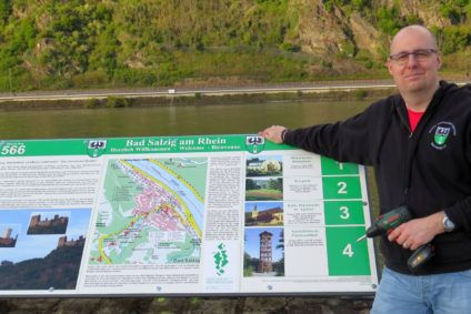 Informationstafel Rheinufer